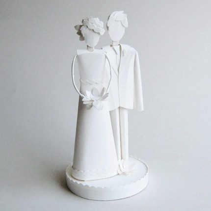 Paper Art Wedding Cake Toppers