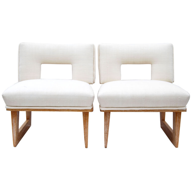 Charmant Slipper Chairs By Paul Laszlo