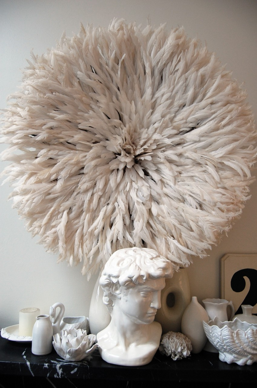 Bamileke Feather Juju Hat 2 Off White Table Tonic 599 AUD