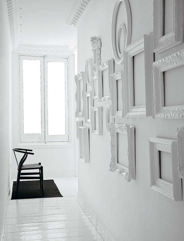 white on white gallery wall - White Gallery Frames