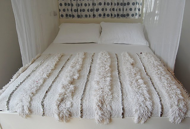 Moroccan Wedding Blankets White Cabana
