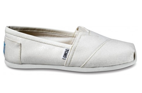 fashion toms shoes white cabana