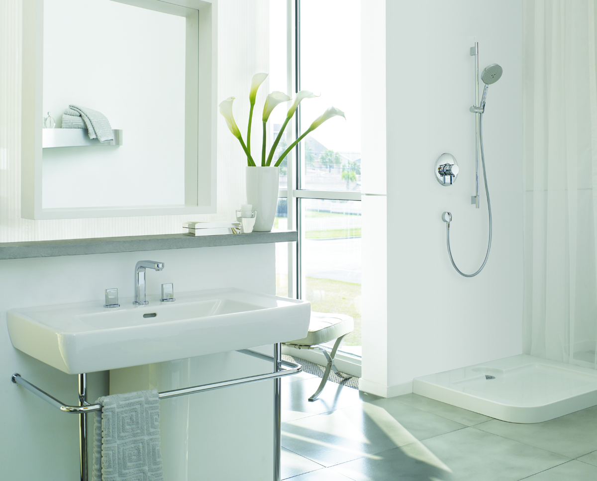 interiors hansgrohe bathrooms white cabana. Black Bedroom Furniture Sets. Home Design Ideas